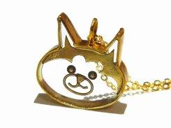しばちゃん ネックレス 【 thuthu appetizing accessories/nupi 】 ハンドメイド animal アニマル 真鍮 アクセサリー かわいい おしゃれ 人気 猫 cat