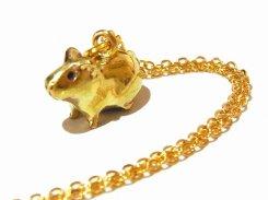 モルモット ネックレス (おすわり)【 KunuginoCo. 】 真鍮 アクセサリー ジュエリー かわいい アニマル 動物 おしゃれ キュート