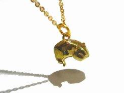 モルモット ネックレス (モルワッサン) (寝そべり)【 KunuginoCo. 】 真鍮 アクセサリー ジュエリー カワイイ 動物 アニマル