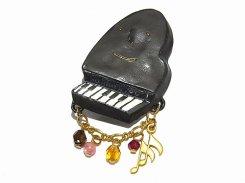 ピアノソナタ ブローチ 【 Palnart Poc パルナートポック 】【 メール便 送料無料 】 ピアノ アクセサリー 音楽 楽器 誕生日 プレゼント 女性 雑貨 かわいい