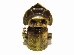 ミニNEKOでんF(フラッシュ) ペンダントトップ 【 いもゆで工房  】 真鍮 アクセサリー ジュエリー おもしろ かわいい 猫 アニマル プレゼント