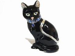 キャットブラック  ピィアース Piearth Japan アクセサリー ジュエリー ボックス 置物 インテリア 動物 アニマル かわいい モチーフ オブジェ ネコ 猫