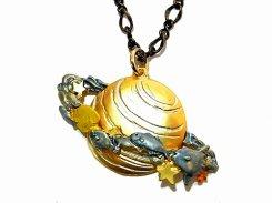 サターンオーシャン ネックレス Palnart Poc パルナートポック メール便 送料無料 土星 海 魚 かわいい メルヘン おしゃれ 人気
