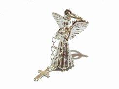 エンジェルクロス シルバーチャーム Nick Hubbard ニック・ハバード メール便送料無料 天使 アクセサリー かわいい 十字架 ブランド プレゼント