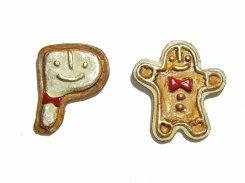 ジンジャークッキー ピアス 【 Palnart Poc パルナートポック 】【メール便 送料無料】 お菓子 クッキー クリスマス アクセサリー 誕生日 プレゼント 女性 かわいい