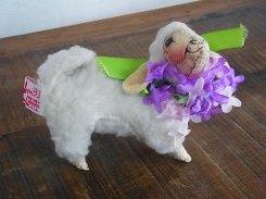 イースター シープ 1【 Annalee Dolls アナリー ドール 】1991年 アメリカ製 ビンテージ  ぬいぐるみ かわいい リボン ひつじ 羊