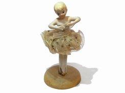 バレリーナ 陶器 人形 【1920年代】 ビンテージ ドール かわいい 置物 インテリア 海外 ダンス 昭和初期