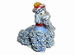 スパゲッティ プードル フレンチベレー【 Royal 】 1950〜1970年代 ハンドペイント 犬 イヌ ベレー帽 ヴィンテージ かわいい インテリア 置物 陶器