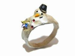 メルティウィンター リング 11号 【 Palnart Poc パルナートポック 】【 メール便 送料無料 】 指輪 誕生日 プレゼント 星 スター 女性 スノー 雪だるま レディース スノーマン