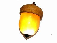 巨大どんぐりライト 1 【 いもゆで工房 】 どんぐり型 LEDライト 照明 団栗 かわいい 光る ユニーク プレゼント ペンダント ネックレス