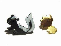 Skunk ピアス 【 Luccica ルチカ 】【メール便送料無料】 スカンク 可愛い アクセサリー 動物 アニマル レディース 誕生日 プレゼント 女性 雑貨