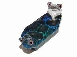 水  (五)【 kengtaro ケンタロー 】  カエル 作家 蛙 かえる フロッグ 一点 カラフル 芸術 個性的 かわいい ペンダントトップ ネックレス