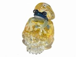 考えに考える【 kengtaro ケンタロー 】 スカル 髑髏 骸骨 カエル ネックレス ペンダントトップ かえる プレゼント 硝子 ガラス お洒落