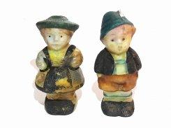 塩こしょう入れ 民族衣装の男の子と女の子【1950年代】 ビンテージ ソルト&ペッパー シェイカー 西ドイツ製