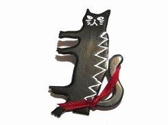 『 Oliver ヘアクリップ ブラック 』【 Luccica ルチカ 】【メール便送料無料】 ねこ 猫 キャット アニマル 動物 かわいい おもしろ ユニーク 誕生日 女性 雑貨 20代 30代