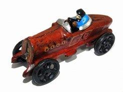 レースカー【 アンティーク・リバイバル 】 ハンドペイント キャスト 鋳物 ヴィンテージ かわいい インテリア 置物