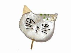 ミケ ヘアカフス (GR×IV)【 Luccica ルチカ 】【メール便送料無料】 ねこ 猫 キャット アニマル 動物 かわいい おもしろ 個性的 ユニーク 誕生日