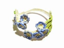 ネモフィラ リング 【 Palnart Poc パルナートポック 】【 メール便 送料無料 】 淡い 水色 日本 花 雨 しっとり 誕生日 プレゼント 女性 雑貨 Japan ブルー  指輪