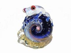 カタツムリ 拾七【 kengtaro ケンタロー 】 カタツムリ カエル ボロシリケイトガラス 職人 作家 蛙 かえる フロッグ 一点 カラフル 芸術 個性的 かたつむり