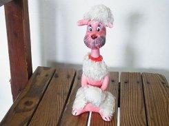 インテリア 置物 犬 『 陶器 もけもけプードル 』【 Royal 】 1960〜1970年代 イヌ ヴィンテージ かわいい 動物 アニマル