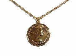 ミュンツェ ネックレス 【 Luccica ルチカ 】【 メール便 送料無料 】 かわいい アクセサリー 個性的 ジュエリー 金貨 コイン 硬貨 お金 海外