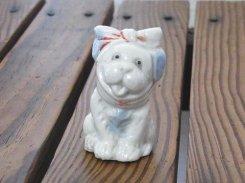 甘党の犬 陶器 置物【 1950年代 】 虫歯 かわいい イヌ 犬 おしゃれ 置物 インテリア 雑貨 オブジェ 動物 希少 アニマル