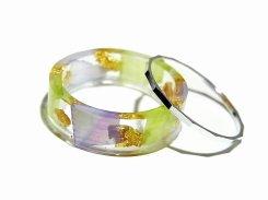 ルチカ リング 『 STERK 12号 GR×PU系』【 Luccica 】 【メール便送料無料】 アクセサリー 個性的 指輪 樹脂 金箔 プレゼント 誕生日 女性 ジュエリー