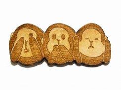 ルチカ ブローチ 『 サンサル 』【 Luccica 】【 メール便 送料無料 】 アクセサリー レディース カワイイ ユニーク 人気 おもしろ 面白い モンキー 猿 サル
