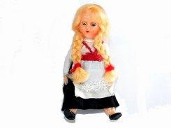 みつあみの女の子 人形 【1950年代】 ビンテージ ドール かわいい 置物 インテリア 海外 ダンス ユニーク 珍し ヴィンテージ