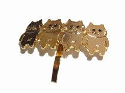 無限ネコ ヘアカフス 【 Luccica ルチカ 】【メール便送料無料】 カワイイ アクセサリー 猫 ねこ アニマル 個性的 キャット ユニーク おもしろ