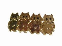 無限ネコ ブローチ 【 Luccica ルチカ 】【メール便送料無料】 カワイイ アクセサリー 猫 ねこ アニマル 個性的 キャット ユニーク おもしろ