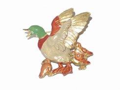 カモ親子 ブローチ 【 Palnart Poc パルナートポック 】【 メール便 送料無料 】 鳥 バード かわいい 大人 キッズ 人気 誕生日 プレゼント 女性 雑貨