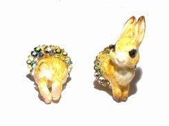ウサギのイヤリング 【 Wadou-koubou 和道工房 】 りんごの森の小さな住人シリーズ うさぎ アニマル 動物 メルヘン 絵本 ラビット
