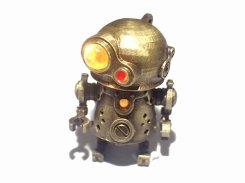 はちろぼさん ペンダントトップ 【 いもゆで工房  】 真鍮 アクセサリー ジュエリー おもしろ かわいい 遊び心 光る ライト ロボット プレゼント