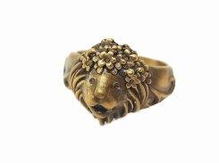 パーライオン リング (19号)【林檎屋】【メール便送料無料】真鍮 アクセサリー 指輪 アニマル 動物 個性的 オススメ 動物 カワイイ 花 フラワー おもしろ