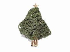 メルレットツリー モミの木 ブローチ 【 Luccica ルチカ 】【メール便送料無料】 アクセサリー 星 スター クリスマス クリスマスツリー サンタ モミの木 ウッド パーティー