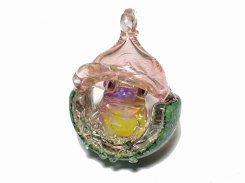 『 ジョン 』【 kengtaro ケンタロー 】 蛙 フロッグ カエル ネックレス ペンダントトップ かえる プレゼント 硝子 ガラス お洒落