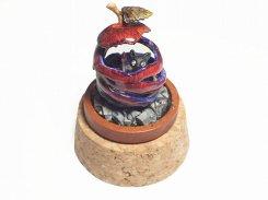 ハロウィン オブジェ 【 Wadou-koubou / 和道工房 】 アニマル 動物 ハンドメイド 南瓜 置物 かぼちゃ ネコ ねこ 猫 お洒落 かわいい キャット リンゴ 林檎