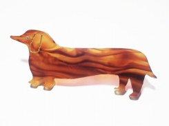 ルビー ブローチ(べっこう)【 Luccica ルチカ 】【メール便送料無料】犬 ダックスフント アニマル 動物 かわいい アクセサリー レディース
