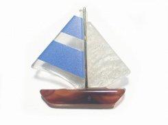 ディンギー ブローチ (ブルー)【 Luccica ルチカ 】【メール便送料無料】 アクセサリー ファッション 乗り物 個性的 ユニーク マリンルック 船 ヨット