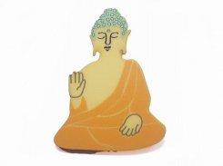 大仏 ブローチ 【 Luccica ルチカ 】【メール便送料無料】 個性的 おもしろ ユニーク 他にはない 仏像 仏教 プレゼント ギフト メンズ レディース