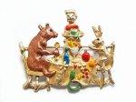 クマ ブローチ 森の宴 【 Palnart Poc パルナートポック Brough Superior ブラフシューぺリア】【メール便送料無料】熊 ウサギ ラビット アクセサリー 動物