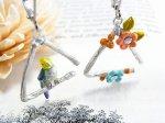 トライアングル ピアス 【Palnart Poc/パルナートポックBrough Superior/ブラフシューぺリア】【ゆうメール送料無料】鳥 バード 花 フラワー アクセサリー