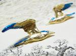 ハナモグリ ピアス 【 Palnart Poc / パルナートポック Brough Superior / ブラフシューぺリア 】【 ゆうメール 送料無料 】 鳥 バード 花 フラワー アクセサリー