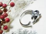 くるんネズミのリング【Luccica/ルチカ】かわいい アクセサリー 個性的 おもしろ 指輪 ねずみ マウス アニマル 動物 メルヘン キュート
