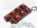 板チョコ バッグチャーム【もりや ゆか】ハンドメイド レザーアクセサリー レディース 手作り 牛革 革製品 小物