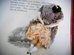 壊れたギニョールブローチ:プリントワンピース【nikibbit】個性的 ユニーク 人形 珍しい 不気味 レース アクセサリー レディース
