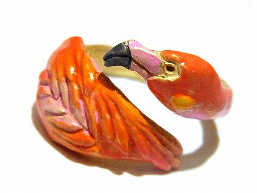 フラミーゴ リング【Palnart Poc/パルナートポック Brough Superior/ブラフシューぺリア】【ゆうメール送料無料】フラミンゴ 指輪 鳥 バード アクセサ…