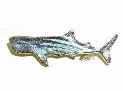 ジンベエザメ ブローチ 【 Luccica ルチカ 】【メール便送料無料】 アクセサリー 誕生日 プレゼント 女性 雑貨 おもしろ かわいい 個性的 レディース 楽しい サメ さめ 魚