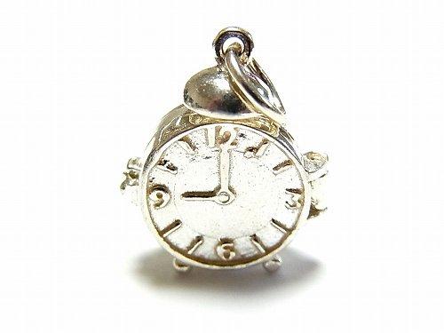 アラームクロック 時計 シルバーチャーム【Nick Hubbard/ニック・ハバード】【ゆうメール送料無料】 ウォッチ アクセサリー おしゃれ レトロ 古い ナチュ…